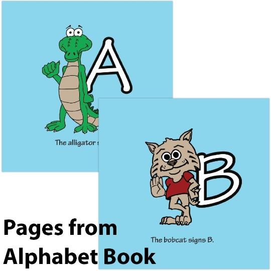 Signimalz Sign Language Alphabet and Coloring Book Set