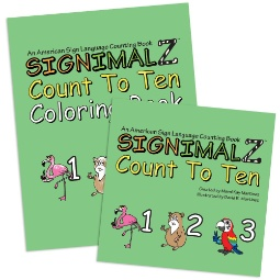 Signimalz Sign Language Count to Ten Book and Coloring Book Set
