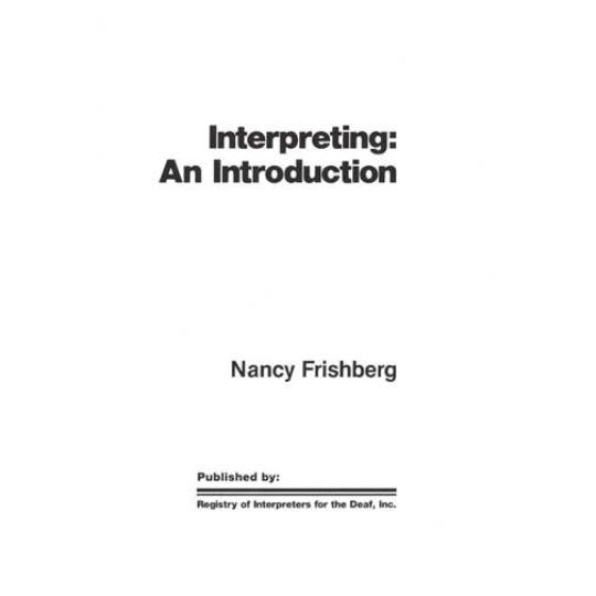 Interpreting: An Introduction