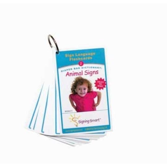 Signing Smart Diaper Bag Flashcards: Animal Signs