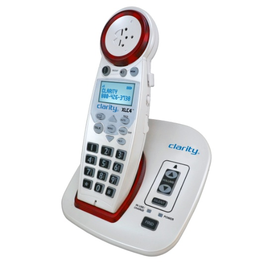 Clarity XLC4 Digitally Amplified  Cordless Phone with Speakerphone & Talking Caller ID