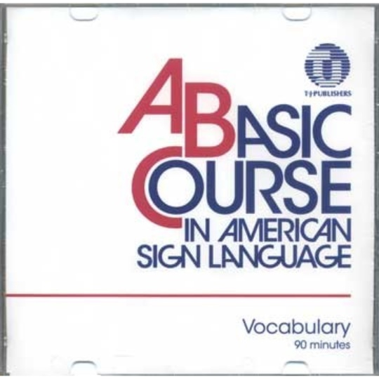 A Basic Course in American Sign Language Vocabulary DVD