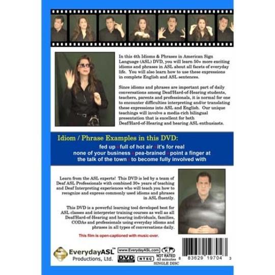 Idioms & Phrases in American Sign Language Volume 4