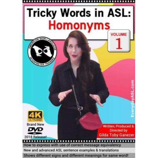 Tricky Words in ASL: Homonyms  Vol. 1