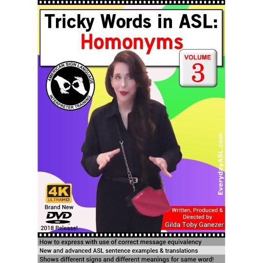 Tricky Words in ASL: Homonyms  Vol. 3