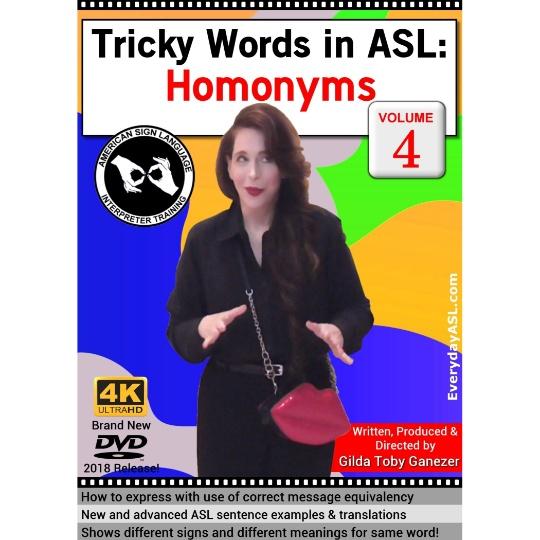 Tricky Words in ASL: Homonyms  Vol. 4