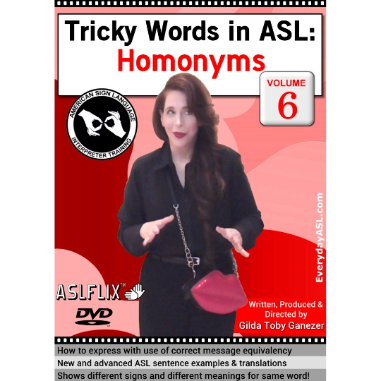 Tricky Words in ASL: Homonyms  Vol. 6