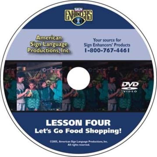 Sign Enhancers Beginning ASL VideoCourse 4: Let's Go Food Shopping!