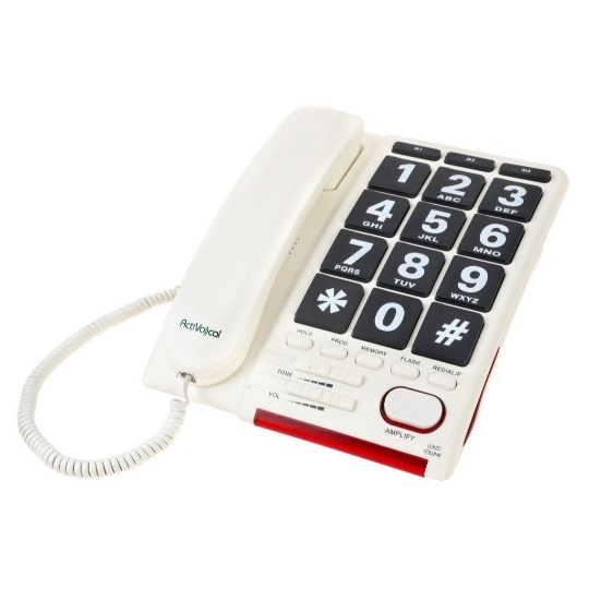 Activocal AmpliTalk 100 Landline Phone with Automatic Voice Dialer