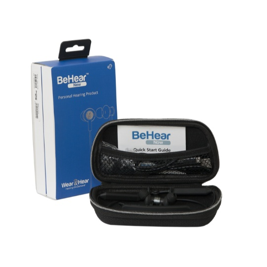BeHear Now - TV Listening System for Two People.Two BeHear Amplified Headsets + one HearLink Transmitter