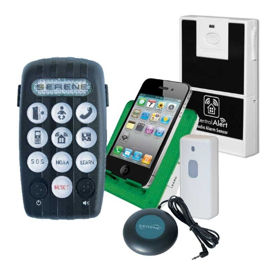 Serene Innovations CentralAlert CA-380 Wearable System Notification with Audio Sensor