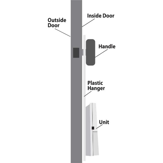 Serene Innovations CentralAlert CA-DXH Hanging Door Knock Sensor