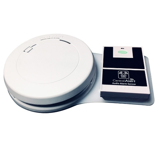 Serene CAFACO Smoke / Carbon Monoxide Detector with Audio Transmitter
