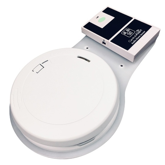 Serene Central Alert Smoke and Fire Alarm with Audio Alarm Transmitter