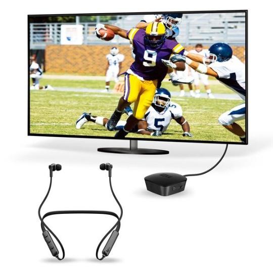 CONNECT Bluetooth Transmitter & Headphone Pkg TV Audio Listening System