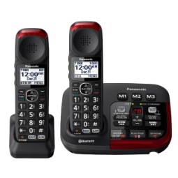 Panasonic Link2Cell KX-TGM430B Amplified Bluetooth Phone with (1) extra handset