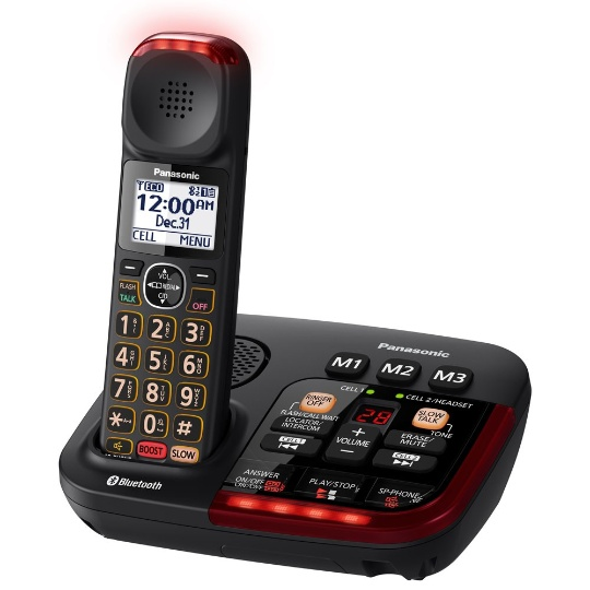 Panasonic Link2Cell KX-TGM430B Amplified Bluetooth Phone with (2) extra handsets