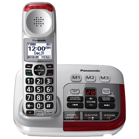 Panasonic KX-TGM450S Amplified Phone with (3) extra handsets