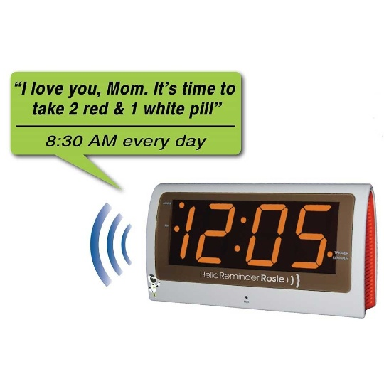 Reminder Rosie 25-Personalized Voice Alarm Talking Clock