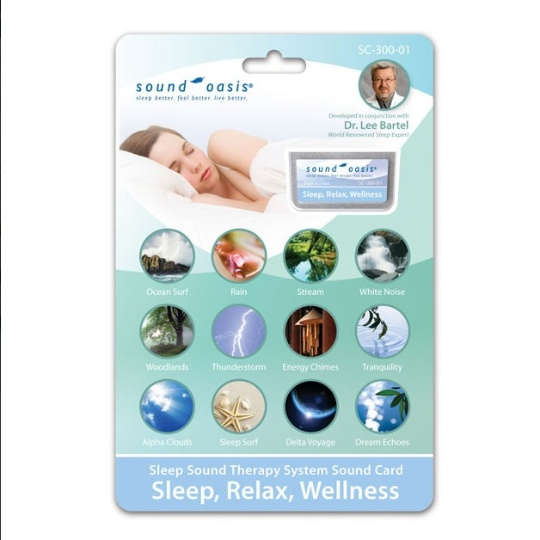 Sound Oasis Sleep Relaxation Wellness Sound Card for S-650 / S-660 / S-665 Sound Therapy Systems