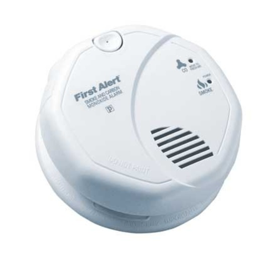 BRK Electronics SC7010B Hard Wired T3 Smoke / T4 Carbon Monoxide Photoelectric Alarm with Strobe