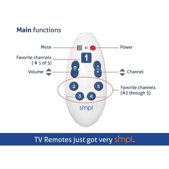 SMPL Universal TV Remote