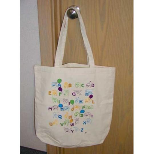 Manual Alphabet Tote Bag