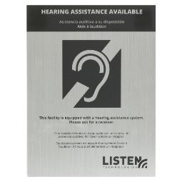 Listen Technologies Assistive Listening Notification Signage Kit