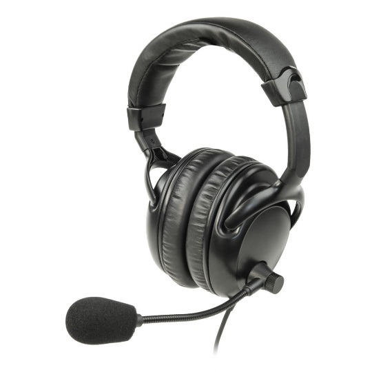 ListenTALK LT-LA454 Over the Ears Dual Headset 4 with Boom Microphone