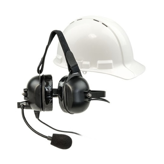 ListenTALK LT-LA-455 Over-the-Head Dual Industrial Headset 5 with Boom Microphone