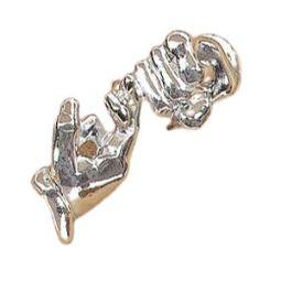 Friendship Silverplate Pin