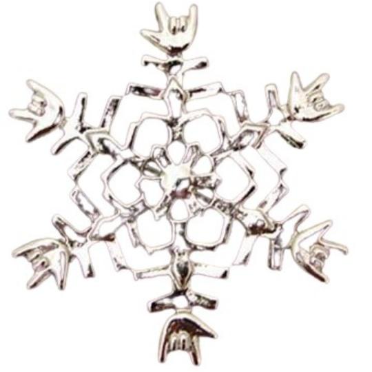 ILY Snowflake Pin
