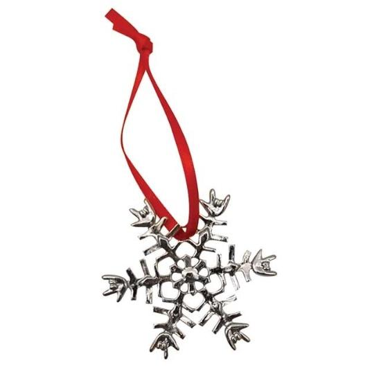 ILY Snowflake Ornament