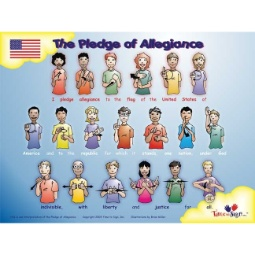 Pledge of Allegiance 18 x 24 Sign Language Poster