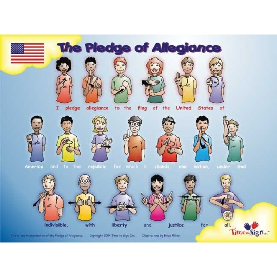Pledge of Allegiance 11 x 17 Sign Language Poster