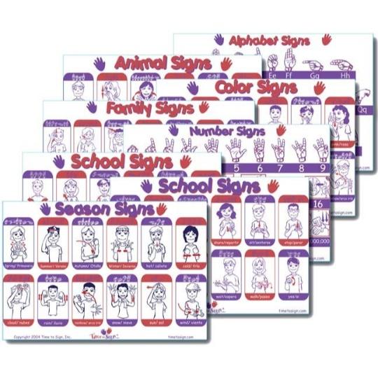 Sign Language Placemats Set of 4