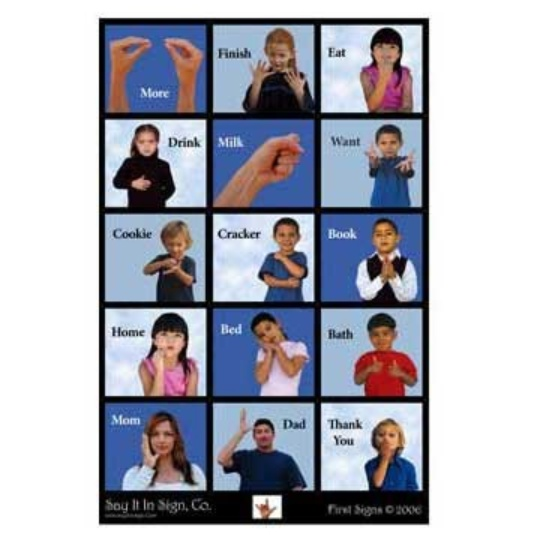 First Signs ASL Lenticular Poster