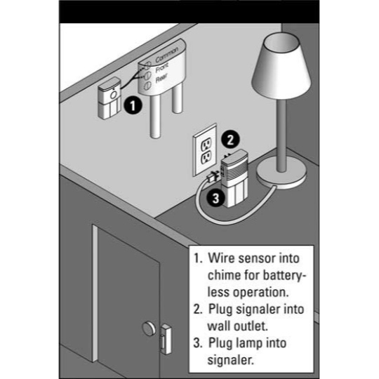 Sonic Alert Traditional System DB100 Doorbell Transmitter with Lamp Flash