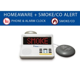 Sonic Alert HomeAware Fire and CO Signaler (with built-in Smoke / CO listener, Phone, and Bed Shaker)