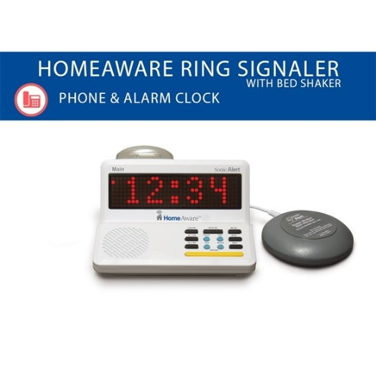 Sonic Alert HomeAware Main Unit + Bed Shaker