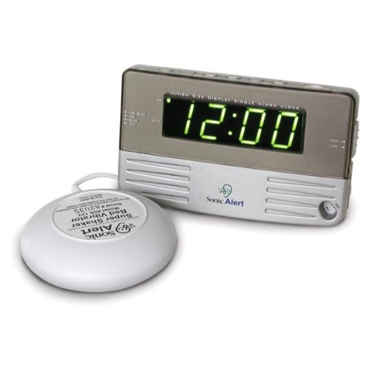 Sonic Alert Sonic Boom SB200ss Vibrating Travel Alarm Clock
