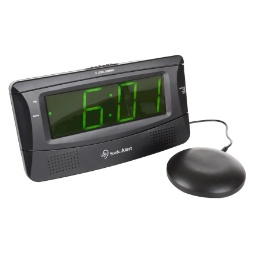 Sonic Boom SB300SSBLK Extra-Loud Alarm Clock with Super Shaker
