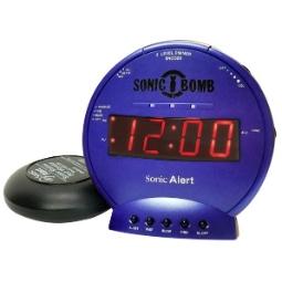 Sonic Alert Sonic Bomb SBB500ss Vibrating Alarm Clock   Blue