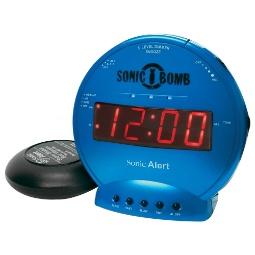 Sonic Alert Sonic Bomb SBB500ss Vibrating Alarm Clock   Turquoise