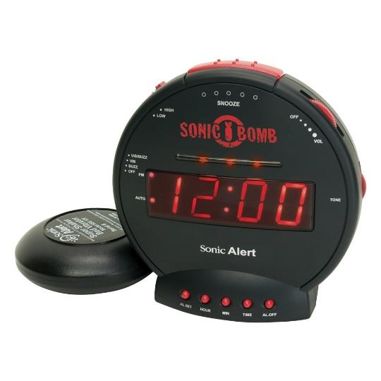 Sonic Alert Sonic Bomb SBB500ss Vibrating Alarm Clock   Black