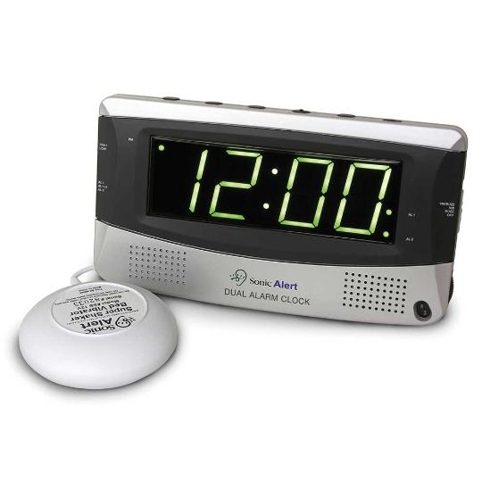 Sonic Alert Sonic Boom SBD375ss Vibrating Dual Alarm Clock
