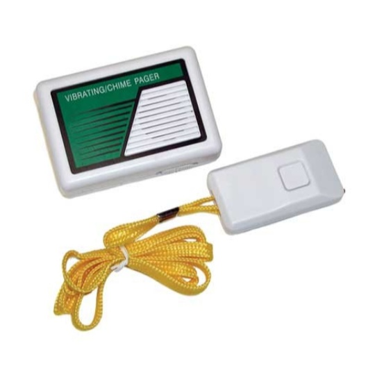 Vibrating / Chime Receiver with Push Button Transmitter