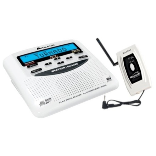 Midland Weather Alert Radio with Silent Call Medallion Series Transmitter