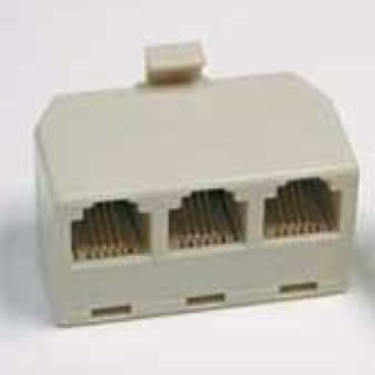 Multi-Phone Line Adapter 3-Jack
