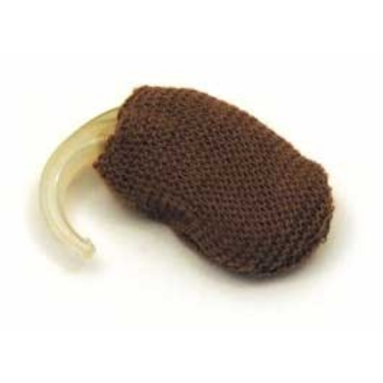 "Hearing Aid Medium Brown Sweatband - 1.25"" Small"